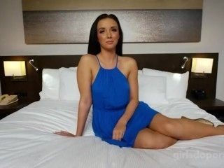 GirlsDoPorn - Brunette Wife Is Waiting In Bed For Her Man To Fuck Her
