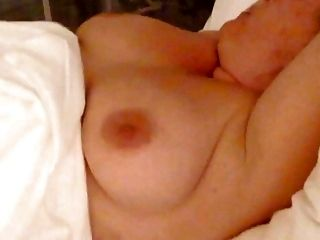 voyeur unaware holiday MILF big tits at night