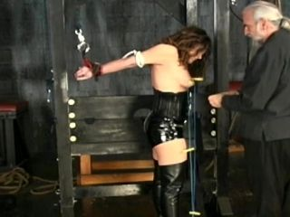 Sensual Brunette Is Getting A Nice Tits Torture