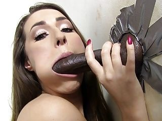 Paige Turnah Tries Her First Black Gloryhole Cock (7)