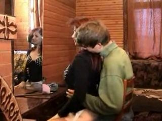 Russian Mom And Son s friend -