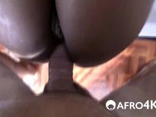 African Chick Takes White Cock In Doggy Style (6)