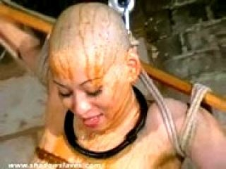 Feathered asian bondage and bizarre japanese domination of tied up Kumimonster