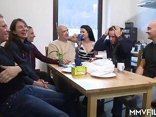 German Anal Student in the Kitchen