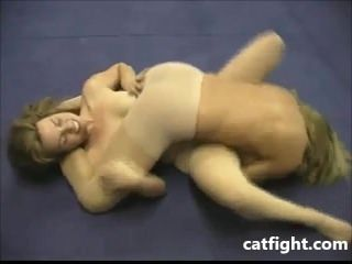 Grappling in Pantyhose during Catfight
