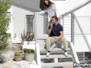 Outdoors seduction prepares Lily for the banging in all positions