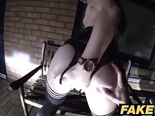 Fake Cop Cheeky young lass likes daring outdoor sex