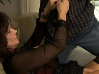 My Mother's Best Friend. Fucking With Sexy Black Sheer Blouse Is Very Hot.