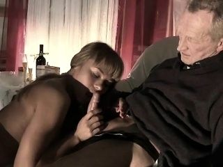 Very Old Man Fucks Very Young Girl And Cums On Tongue (3)