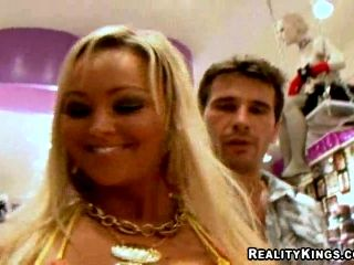 Blonde with Big Tits Abbey Brooks Sucks Cock and Gets Fucked