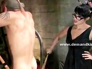 Shaved Man Sex Slave Tortured In Extreme Dominatrix Sex Video By