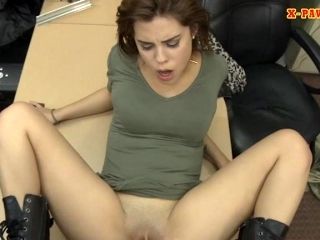 Slim Rocker Fucked By Horny Pawn Man In The Back Office