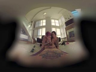 Two Tattooed Hotties Exercise And Fuck You In Virtual Reality