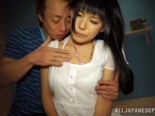 Dainty Asian escort takes cum facial after hardcore shagging (2)