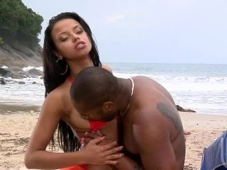 beach porn interracial Skinny