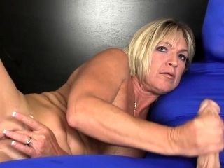 Busty Mature Amateur Wanks Guy In Morphsuit (2)