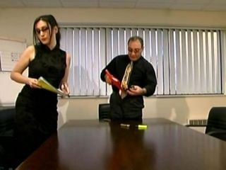 Tired Boss Fucks His Young Secretary Right On The Table (2)