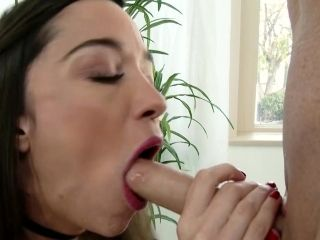 Young Nikki Next sucks cock and licks balls hard