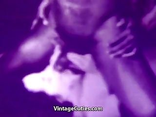 Muscled Black Boy Fucking a Cute Babe (1950s Vintage)