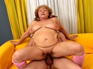 Fatty Granny With Saggy Boobs Riding Hard Dick In Reverse Cowgirl Pose