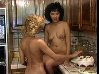Retro Babes Licking Each Other's Hairy Pussies In The Kitchen