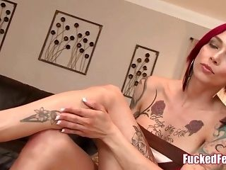 Anna Bell Peaks Gives Amazing Footjob in Fucked Feet Scene!