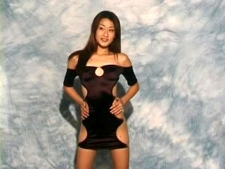 Sluttiest dress ever modeled by a hot Asian girl
