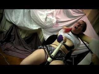 Strangled While Tied & Forced Orgasm
