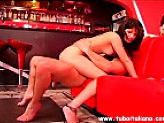 Italian Hot Wife Fucked in a Bar