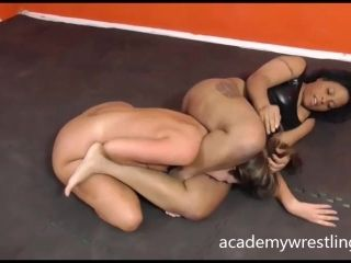 Black beauty fuck and facesit in Academy Wrestling (2)