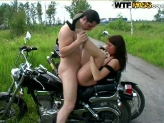 Amateur Anal Fuck Outdoors On A Motorbike