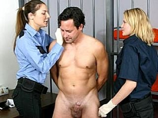 Guards Jack Off Naked Handcuffed Crim