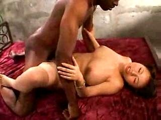 Rin Aoki and black guy get it on