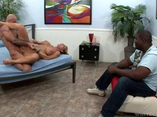 Lustful moments with slutty Nikki Sexx, Barry Scott and Luther