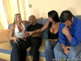 Interracial FFMM Foursome with Horny Sluts Delilah Strong and Hailey Star