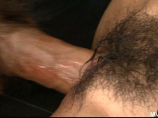 Emotional dick sucker Nio Higari gets her fluffy musty cunt drilled doggy