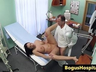 Busty Euro Patient Creampied On Docs Desk (3)