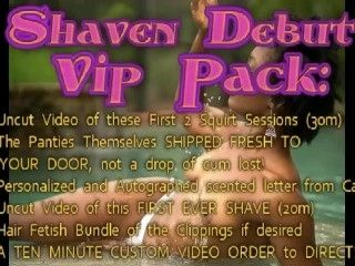 DEBUT of SHAVEN Pussy AND an Exclusive VIP Offer, Carla Cain's 1st