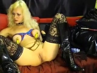 Horny webcam Blonde, Fetish record with meekslave girl.