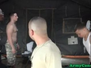 Handsome Soldier Anally Spitroasted Outdoors