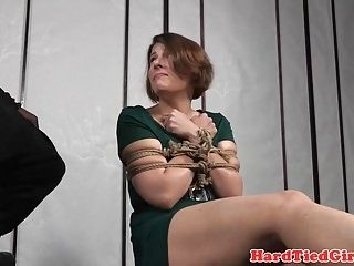 Bound Bdsm Sub Tied And Caned By Black Dom (3)