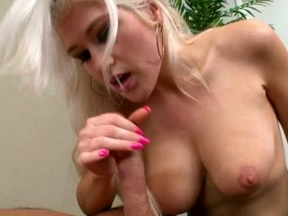 This Horny Blonde Babe With A Big Boobs Gives Great Titjob
