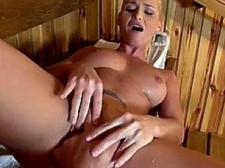 A Honey Bj In The Sauna