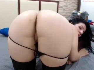 Big Booty Sexy Latina Milf Shows Her Plump Wet Shaved Cameltoe Doggy