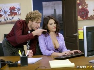 Curly-haired guy gives Valentina a nice ramming right there in office (2)