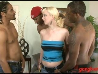 Hot blonde slut Cherry Torn gets her ass nailed by black men (2)