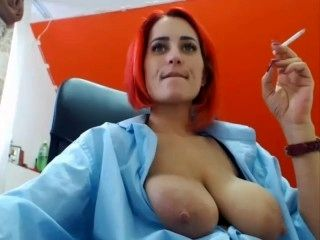 Breast Milk and Smoke from this Busty MILF