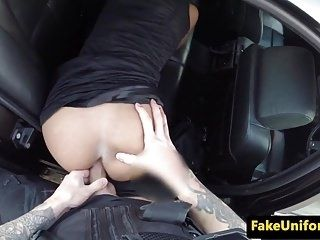 Pulled Busty Uk Babe Analized In Police Car (3)