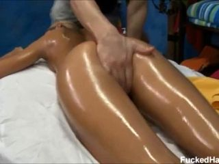 Blonde Hottie Nadia Noir Has Her Ass Oiled Up And Massaged