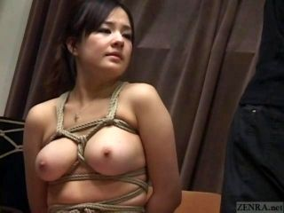Subtitled Japanese CMNF BDSM nose hook bird cage play (8)